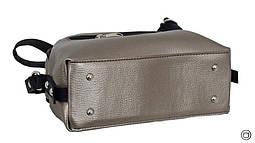 Жіноча сумка через плече 629 срібло бронза, фото 3
