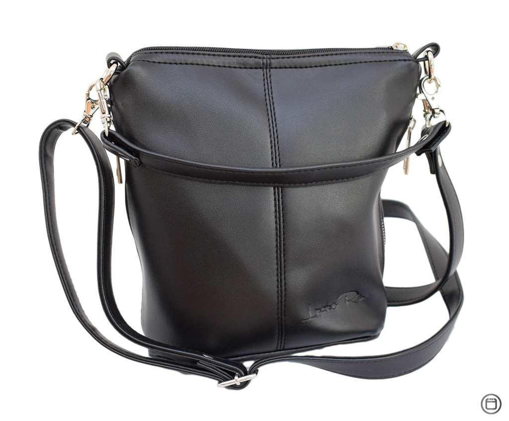 Женская сумка из кожзама Case 128 черная  гн