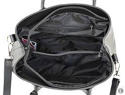 Женская сумка из кожзама Case 621 черная, фото 3
