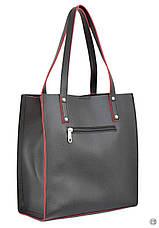 Жіноча сумка з екошкіри 532 чорна чн, фото 2
