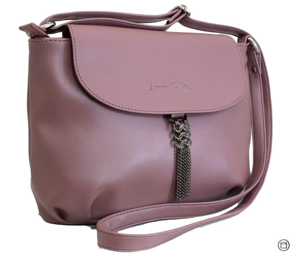 Жіноча сумка зі шкірозамінника Case 492 лілова