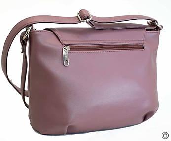 Жіноча сумка зі шкірозамінника Case 492 лілова, фото 2