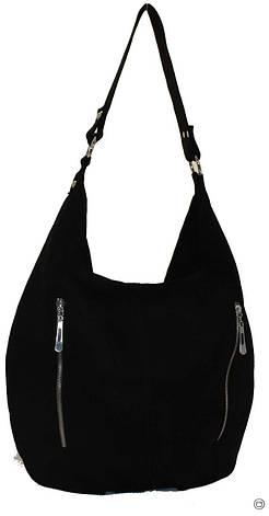 Женская кожаная сумка Case 383 черная, фото 2