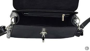 635 сумка чорна замша, фото 3