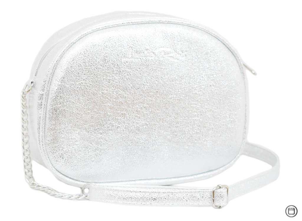 Женская сумка из кожзама Case 527 серебро светлое н