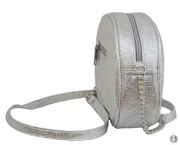 Женская сумка из кожзама Case 527 серебро светлое н, фото 2