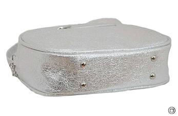 Женская сумка из кожзама Case 527 серебро светлое н, фото 3