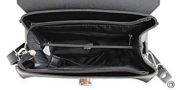 Женская сумка из кожзама Case 572 черная серебро н, фото 3