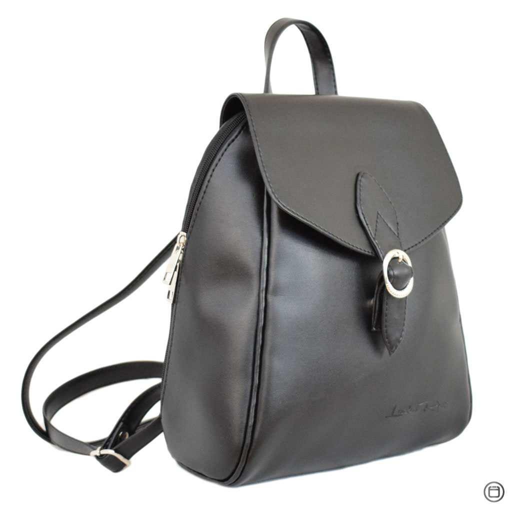 Жіночий рюкзак з шкірозамінника Case 414 чорний г