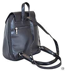 Жіночий рюкзак з шкірозамінника Case 414 чорний г, фото 2