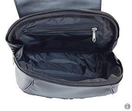 Жіночий рюкзак з шкірозамінника Case 414 чорний г, фото 3