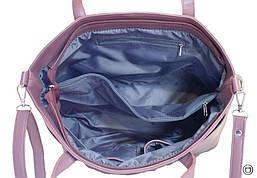 Жіноча сумка зі шкірозамінника Case 448 лілова, фото 3