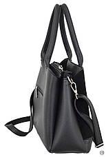 Классическая женская сумка Case 627 замш черная, фото 3
