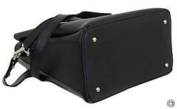 Женская сумка из кожзама Case 612 черная серебряная, фото 2