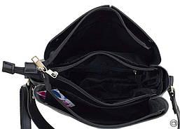Женская сумка из кожзама Case 612 черная серебряная, фото 3