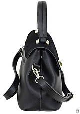 Женская сумка из кожзама Case 622 замш черная, фото 3