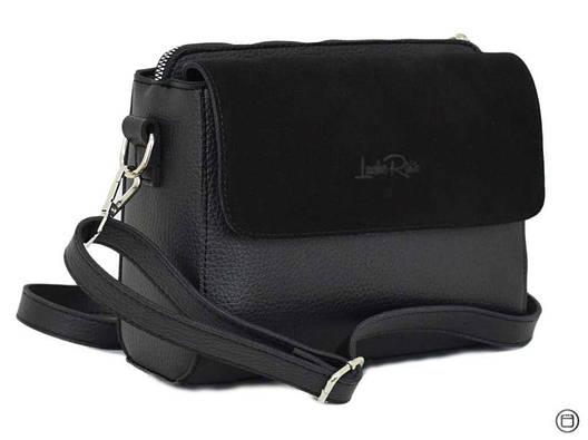 Женская сумка через плечо Case 633 черная, фото 2