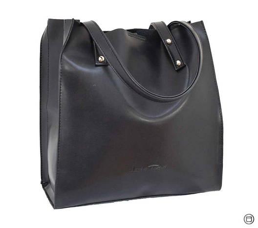 Женская сумка из экокожи Case 532 черная, фото 2