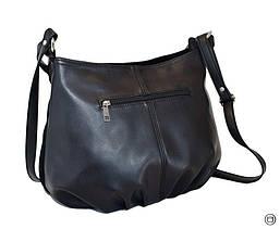 Жіноча замшева сумка 273 чорна, фото 2