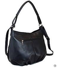 Жіноча замшева сумка 273 чорна, фото 3