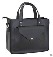 Женская сумка из натуральной кожи Case 630 черная, фото 2