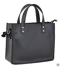 Женская сумка из натуральной кожи Case 630 черная, фото 3