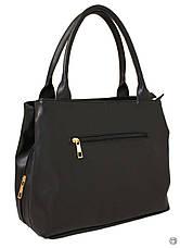 Жіноча сумка зі шкірозамінника Україна 507 чорна г, фото 3