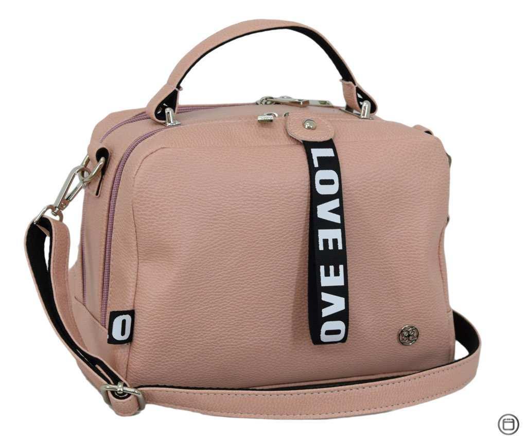 Стильная женская сумка Case 649 пудра мат н