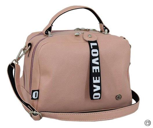 Стильная женская сумка Case 649 пудра мат н, фото 2