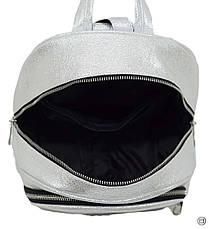Удобный женский рюкзак Case 600 серебро светлое н, фото 3