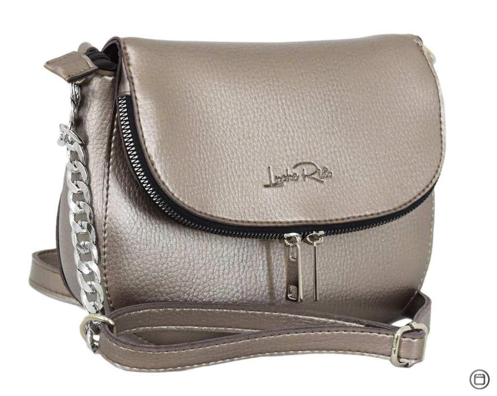 Женская сумка Case 626 серебро бронза
