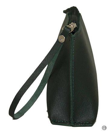 Женская косметичка кожаная Case 487 зеленая, фото 2