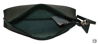 Женская косметичка кожаная Case 487 зеленая, фото 3