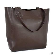 Женская сумка-шоппер Case 518 шоколад н, фото 2