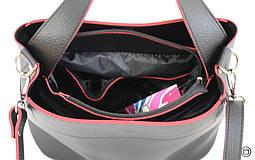 Женская сумка мягкая из кожзама Case 516 черная чн, фото 3