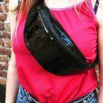 Женская поясная сумка (бананка) — Latex Black, фото 2