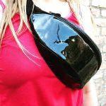 Женская поясная сумка (бананка) — Latex Black, фото 3