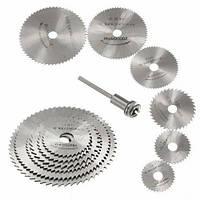 Набор из 6 отрезных кругов, дисковых пил HSS 22-50мм для дремеля гравера
