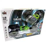 Трюковая машина-трансформер, перевёртыш, джип Dance Monster  на радиоуправлении, полный привод, аккум. 4.8V, фото 5