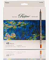 Цветные карандаши Marco Raffine 7100-48СВ Марко Рафин 48 цветов картонная упаковка