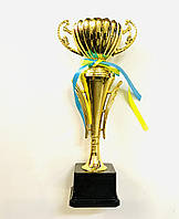 Кубок 31 см. из металлизированного пластика на основании, фото 1