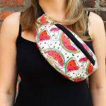Женская поясная сумка (бананка) — WATERMELON, фото 2