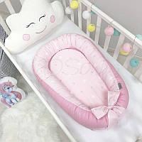 Гнездышко-кокон Baby Design Звезды на розовом ТМ «Маленькая Соня»