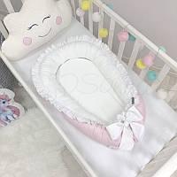Гнездышко-кокон Универсальный розовый ТМ «Маленькая Соня»