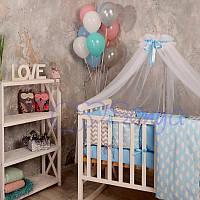 Балдахин Baby Design белый с голубым ТМ «Маленькая Соня»
