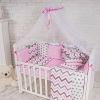 Балдахин Baby Design белый с розовым ТМ «Маленькая Соня»