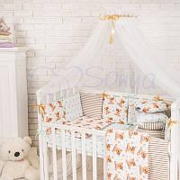 Балдахин Baby Design белый с шоколадным ТМ «Маленькая Соня»