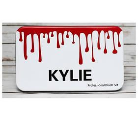Набор кистей для макияжа набор 12 шт. кисти Kylie для бровей растушевки теней пудры тональной основы