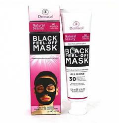 Черная маска для лица Dermacol Black Peel Off Mask в тюбике от угрей и черных точек 120 мл (A1004)