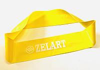 Эспандер силиконовая ленточная петля ХХS   (лента сопротивления, усилие слабое)  желтая